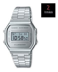Relógio Casio Vintage Unissex Prateado A168wem7df