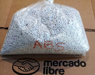 Pellets Plastico Abs Natural, Virgen 1kg