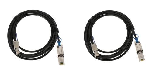 Imagen 1 de 5 de 2 Piezas Cable Hd Mini Sas Sff-8644 A Sff-8088 Externo 3