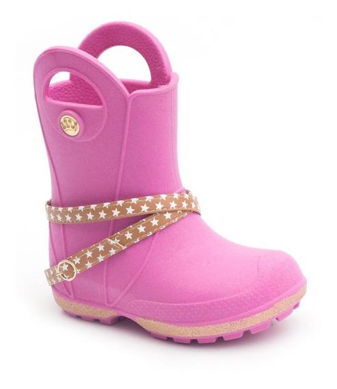 Bota Galocha Plugt Maravilha Gliter - Pink Frete Grátis