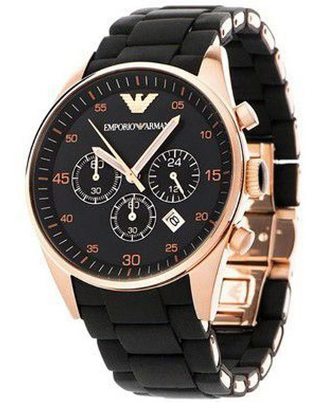 Relógio Emporio Armani Ar5905 Em Aço Inoxidável Silicone Pre