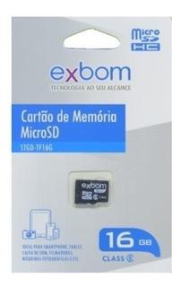Cartão De Memória Micro Sd Exbom 16gb Stgd-tf16g