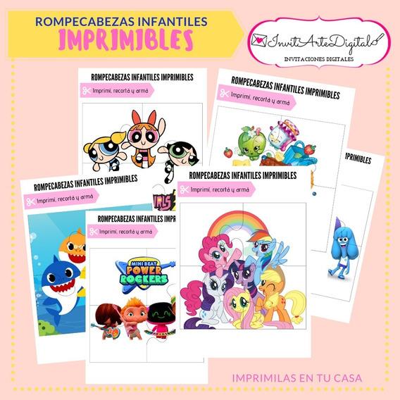 Rompecabezas Infantiles Imprimibles. Set De 10 Fichas!