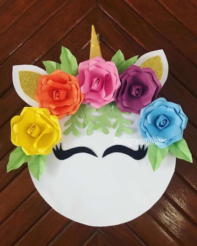 Piñata Unicornio Para Cumpleaños. Allegracotillones.