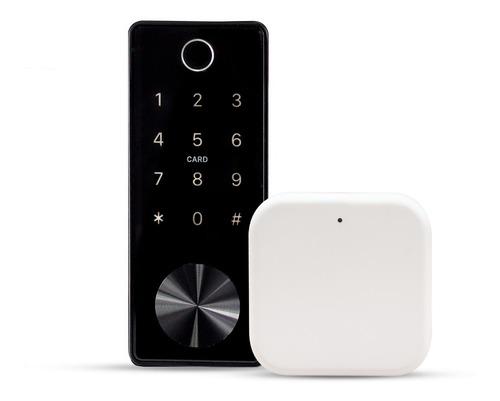 Imagen 1 de 10 de Cerrojo Con Huella Digital Y Wifi Excel 325 + Gateway Wifi