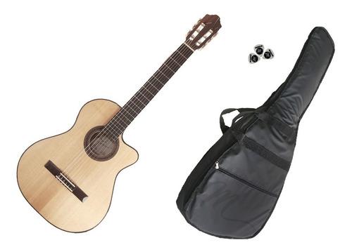 Imagen 1 de 9 de Guitarra Fonseca Electrocriolla 40kec Accesorios De Regalo