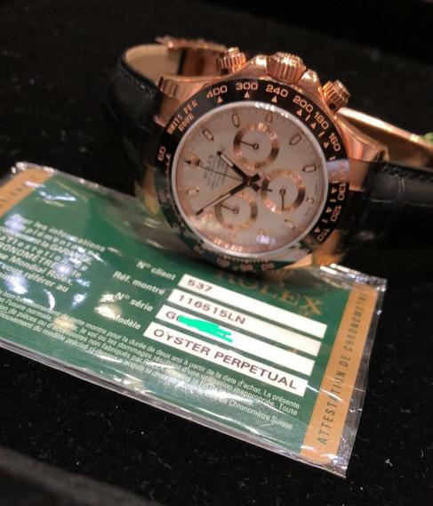 Relógio Masculino Rolex Daytona Vidro Em Safira 100%