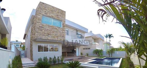 Casa Com 4 Dormitórios À Venda, 425 M² Por R$ 3.160.000,00 - Alphaville Dom Pedro - Campinas/sp - Ca13503