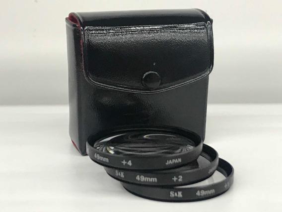 Kit De Lente(filtro)de Aproximação 49mm +1,+2 E +4.