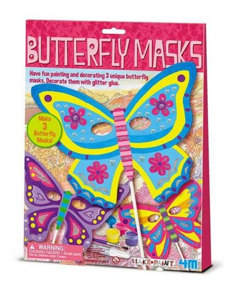 Crea Tus Propias Máscaras De Mariposas 4m Manualidad Disfraz