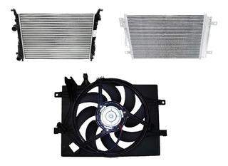 Kit Radiador + Condensador + Electro Siena/ Palio/strada