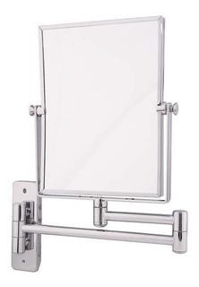 Espejo De Amurar Extensible Cromado Aumento X5 - 15x20cm Env