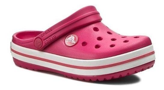 Sandália Crocs Crocband Original Kids Raspberry +nfe