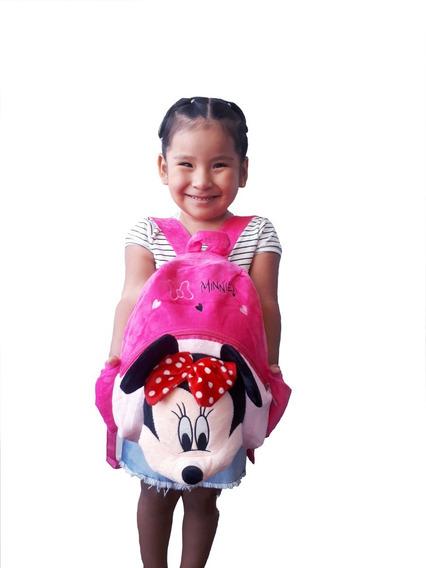 Mochila Minnie Mouse Pelúcia Rosa Infantil Disney Pro. Entre