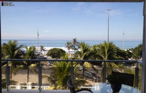 Barra Da Tijuca - Maravilhoso Apto De 3 Quartos Com 156m²- Frontal Mar!! - Beton /q - 69398206