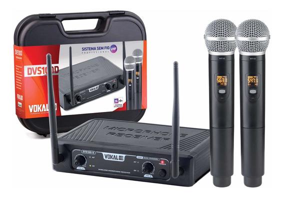 Microfone Vokal Dvs100 Dm Sem Fio 16 Canais Tipo Vms12