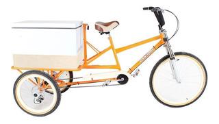 Triciclo Carga Traseira Com Caixa Térmica 90l
