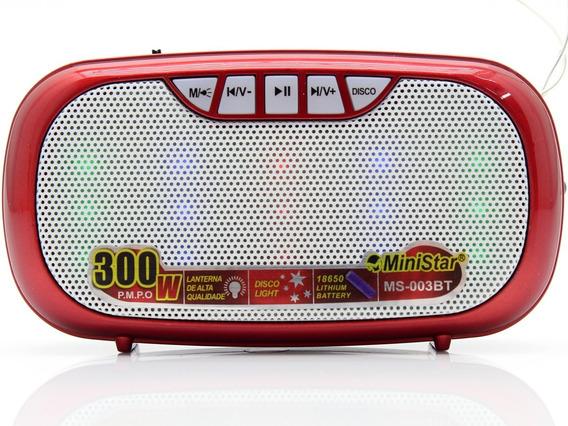 Mini-rádio Portátil Leitor Sd Usb Mp3 Fm Digital Bluetooth