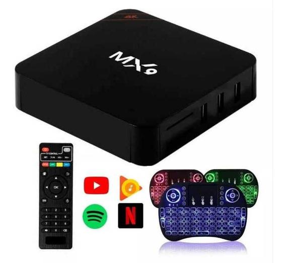 Conversor Smart Tv 4gb Ram 32gb Android + Teclado Netflix