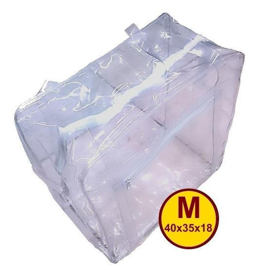 Sacola 100% Pvc Grosso Transparente Jumbo 40x35x18 Media