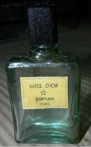 Antiguo Frasco De Perfume Miss Dior
