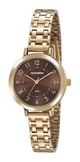 Relógio Mondaine Feminino Dourado 53864lpmvde4