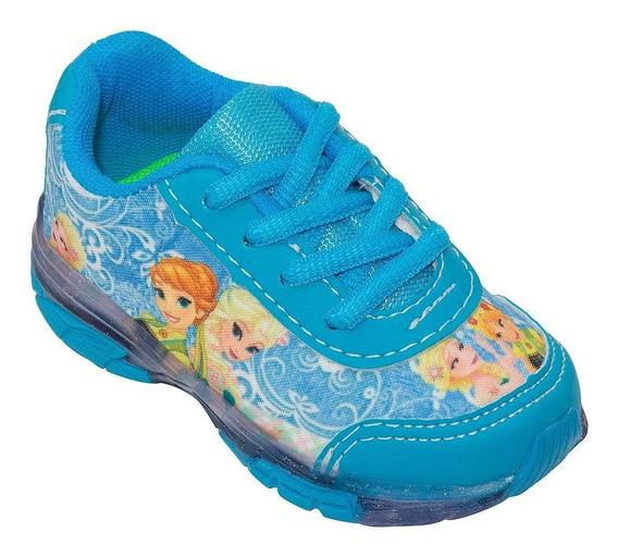 Tenis Infantil Frozen Com Luz Fma Ladybug Sapato Menina
