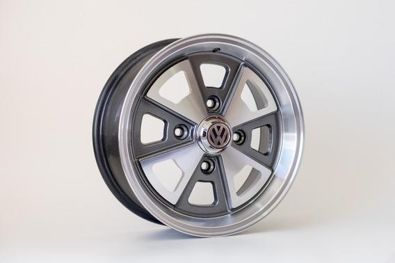 Par Rodas Aro15 4x130 Porsche Fusca C/ Bicos Gratis R84 15