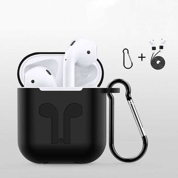 3in1 Silicone Earpods Case Para Apple AirPods Sem Fio Bt