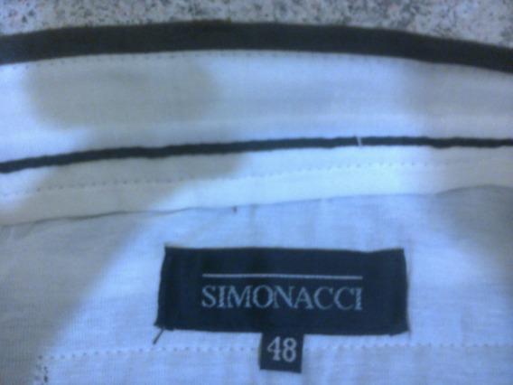 Pantalon De Vestir Hombre Marron Oscuro T 48 Simonacci