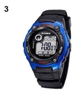 Reloj Synoke Waterproof, Cuarzo, Sport Gt, Correa Negra,