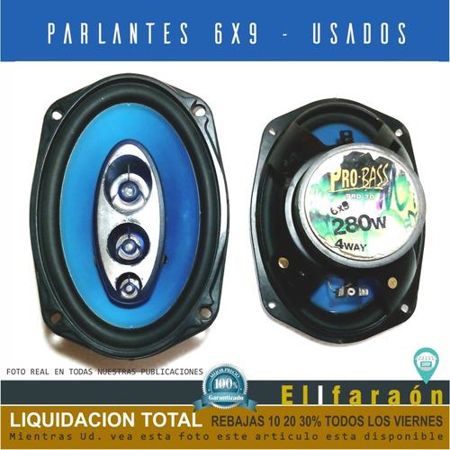 Juego De Parlantes 6x9 280 Watts 4 Ohms Pro Bass