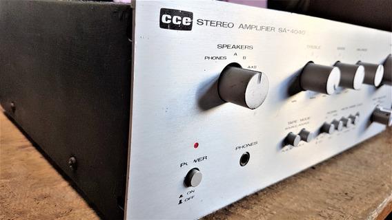 Amplificador Estéreo Cce Modelo Sa-4040 - 80watts Rms