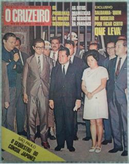 24/03/1970 Revista O Cruzeiro Capa Seqüestro Cônsul Japonês