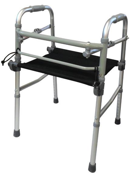 Andadera Ortopedica De Lujo Con Asiento De Lona Integrado