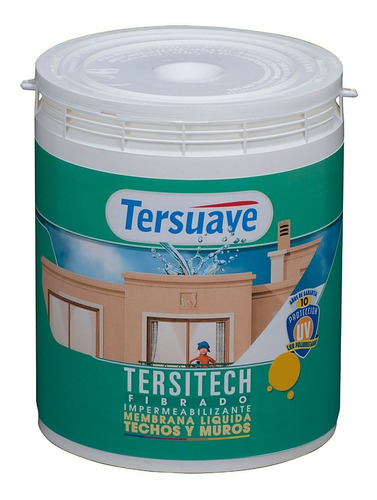 Imagen 1 de 1 de Impermeabilizante Techos Y Muros Fibrado Tersitech 20 Kg