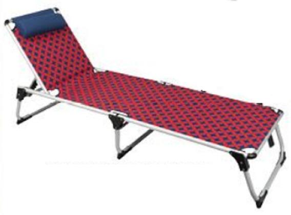 Cadeira De Praia Portátil Dobrável Azul Listrada Vira Maleta