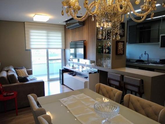 Apartamento Em Areias, Andar Alto Com Vista Mar - Ap6704
