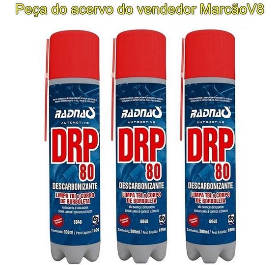 3 Drp 80 Descarbonizante Spray Limpa Carburador Tbi Injetor