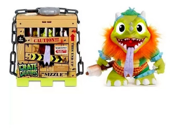 Crate Creatures Monstruito Interactivo Sizzle 54912 E. Full