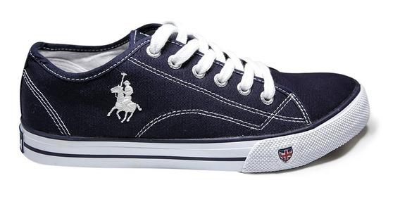 Tenis Sneaker Caballero Cm-801-03 Rcb Polo Club Azul Marino
