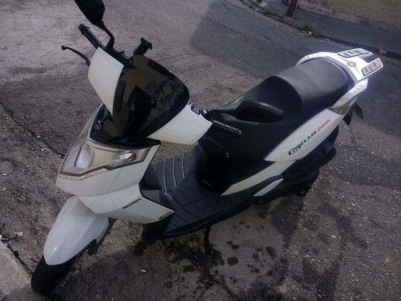 Dafra Cityclass 200i 2016 Branca Baixo Km Sem Débitos