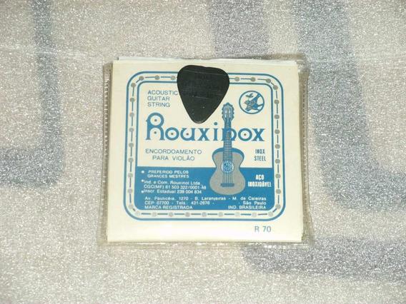 Encordoamento Para Violão Rouxinox + Paleta