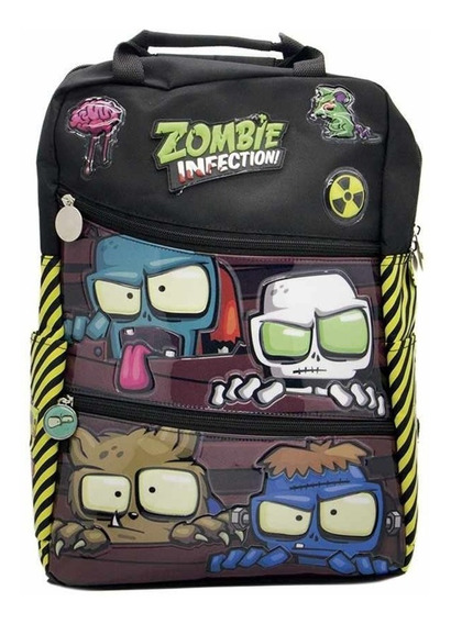 Mochila Escolar 16 Zombie Infection Om187 - Original