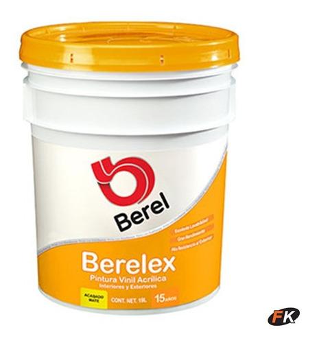 Cubeta Pintura Berelex 15 Años Vinílica Acabado Mate-berelmx