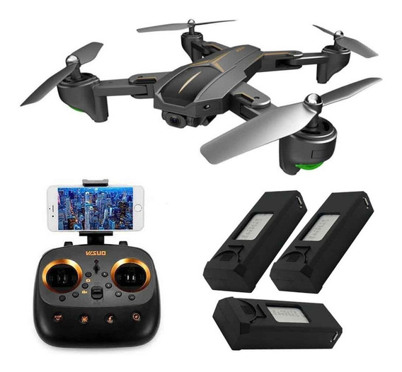 Drone Visuo Xs812 Gps - Câmera Wifi Ultra Hd 4k, Smart F.