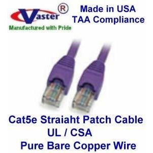UL 24Awg Pure Copper 20678-25 Ft UTP Cat5e Ethernet Network Patch Cable White SuperE Cable