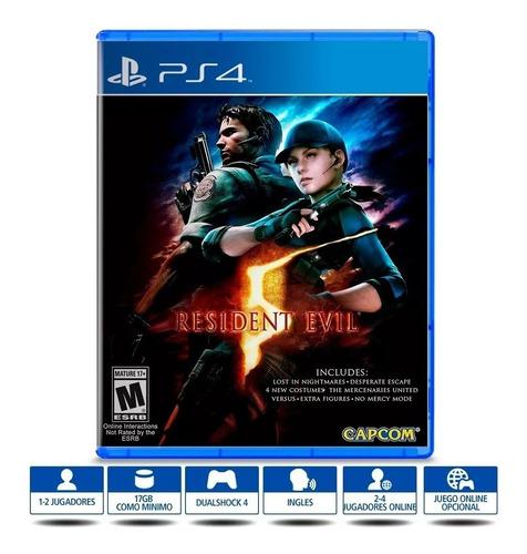 Resident Evil 5 Ps4 Original Nuevo Disco Físico