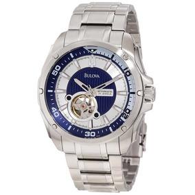 Relógio Luxo Bulova 96a137 Orig Anal Mec Autom Silver!!!
