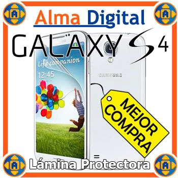 Lamina Protector Pantalla Transparente Samsung Galaxy S4 Siv